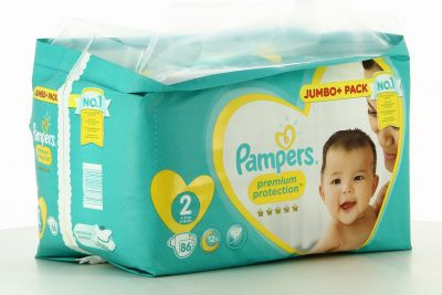 Pampers Couches Premium Protection Taille 2 - 86 Couches
