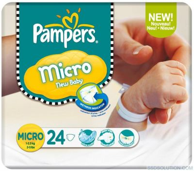 Pampers Couches New Baby Taille MICRO X 24 Couches