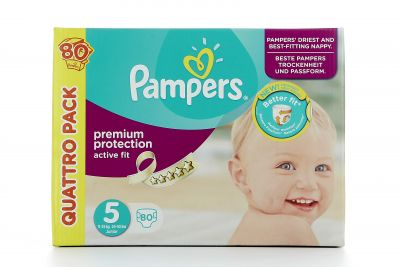 Pampers Couches Active Fit Taille 5 - 80 Couches