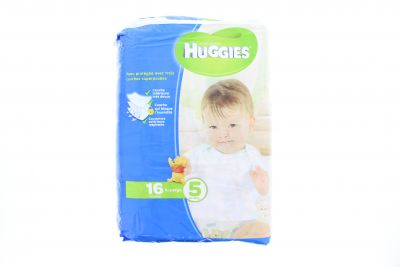 Huggies Couches Taille 5 X-Large 13-18 Kg X 16
