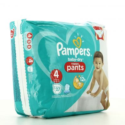 Pampers Couches Baby-Dry Pants Taille 4 - 27 Couches