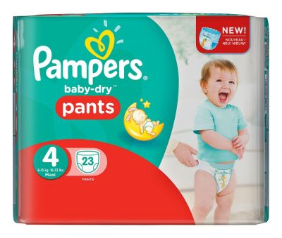 Pampers Couches Baby-Dry Pants Taille 4 - 23