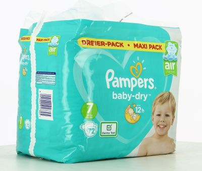 Pampers Couches Baby-Dry Taille 7 - 72 Couches