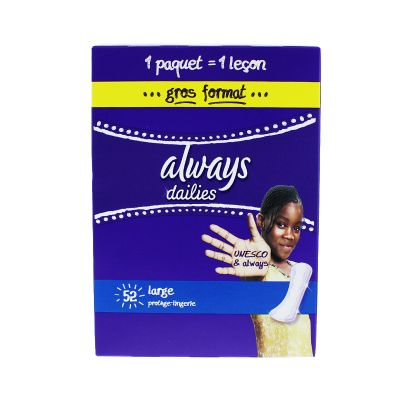 Always Dailies Large Sans Ailettes 52 Protège-Slips