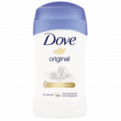 Pack de 6 Dove Déodorant Femme Stick Anti Transpirant Original 40ml