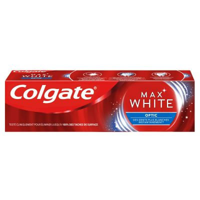 Pack de 12 Dentifrice blancheur Colgate Max White Optic - 75ml
