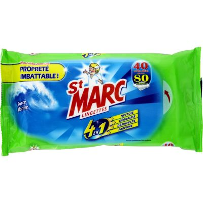 St Marc - 40 Lingettes Extra-Larges Force Marine