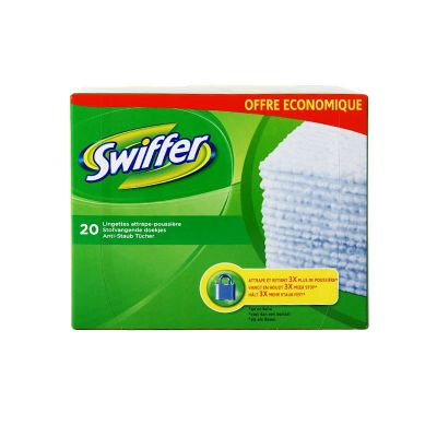 Swiffer Recharges 20 Lingettes Sèches