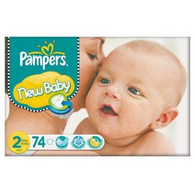 Pampers Couches New Baby Taille 2 - 74 Couches