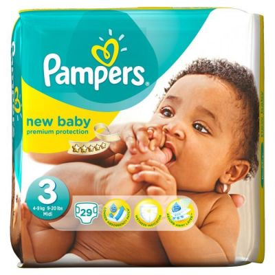 Pampers Couches New Baby Taille 3 - 29 Couches