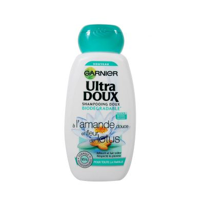 Garnier Ultra Doux Amande Douce & Fleur De Lotus Shampooing Biodégradable 250ML