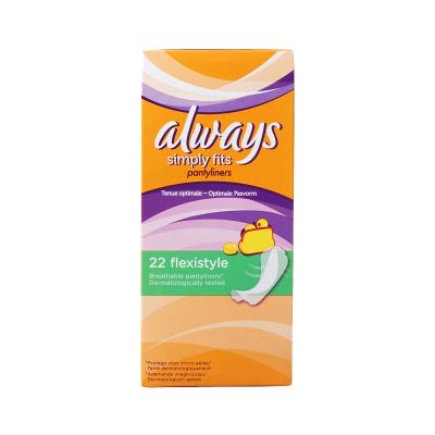 Always Simply Fits Flexistyle Sans Ailettes 22 Protège-Slips
