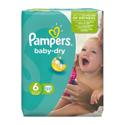 Pampers Couches Baby Dry Taille 6 - 22 Couches