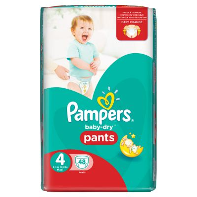 pack de 2 Pampers Couches Baby-Dry Pants Taille 4 - 48(96couches total)