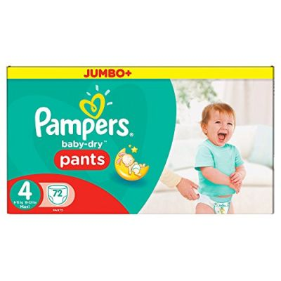 Pampers Couches Baby-Dry Pants Taille 4 - 72