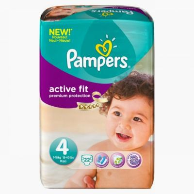 Pampers Active Fit Taille 4 (7-18KG) 22 Couches