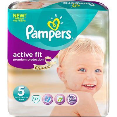 Pampers Active Fit Taille 5 (11-25KG) 37 Couches