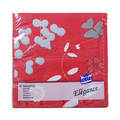 Lotus Cocktail Cheerfull Red 25x25CM 25 Serviettes