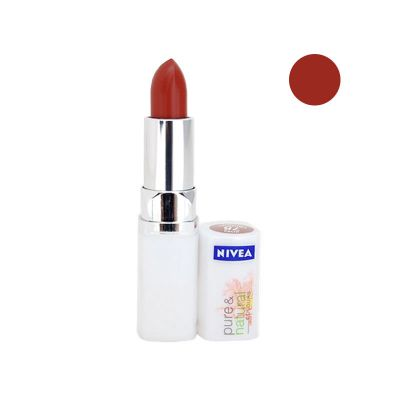 Nivea Pure & Natural Colours Rouge A Lèvres N°78 Chestnut Brown
