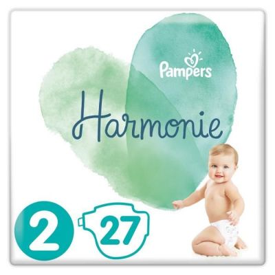 Pampers Couches Harmonie Taille 2 - 27 Couches