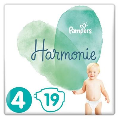 Pampers Couches Harmonie Taille 4 - 19 Couches