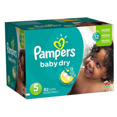 Pampers Couches Baby Dry Taille 5 - 82 couches