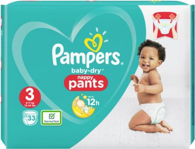 Pampers Couches Baby Dry Nappy Pants Taille 3 - 33 Couches