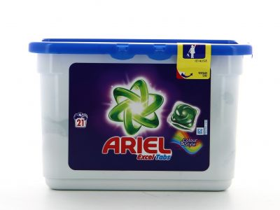Ariel Lessive Excel Tabs 21 Doses Color & Style