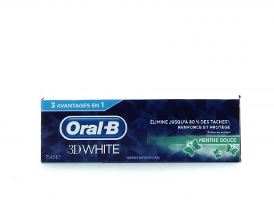 Oral B Dentifrice 75 Ml 3D White Menthe Douce