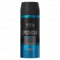 Pack de 6 Axe Déodorant Homme Spray Refreshed Fresh 150ml