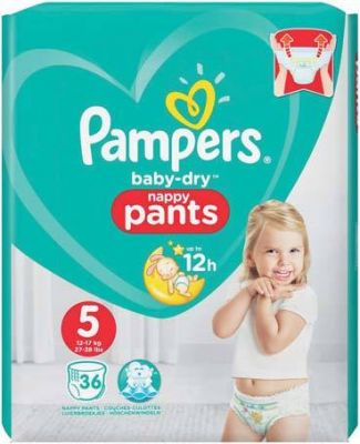 Pampers Couches Baby-Dry Pants Taille 5 - 36 Couches