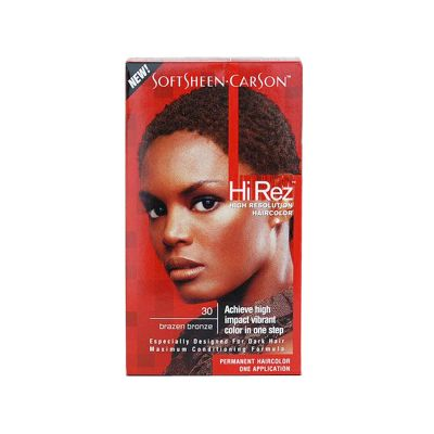 Hi-Rez de Softsheen Carson Coloration Permanente N°30 Bronze Brun Or