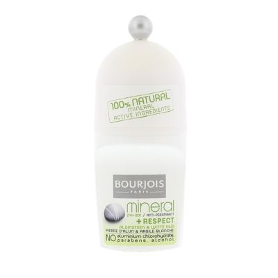 Bourjois déodorant roll on 50 ml mineral + respect 24h