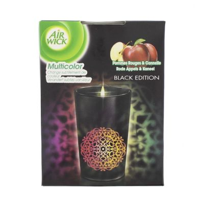 Air wick Bougie Led Black Edition Pomme&Canelle