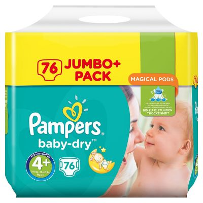 Pampers Couches Baby Dry Taille 4+ - 76 Couches