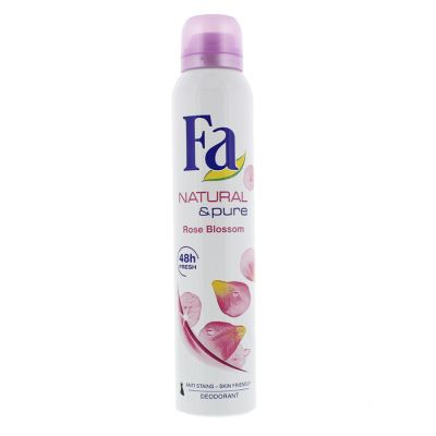 Fa déodorant spray 200ml natural & pure rose flower