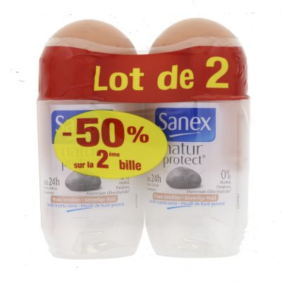 SANEX DEO ROLL ON 50 ML SENSITIVE - LOT DE 2