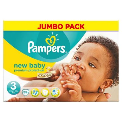 Pampers Couches New Baby Taille 3 - 74 Couches
