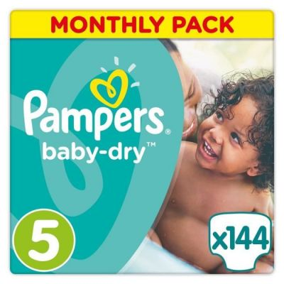 Pampers Couches Baby Dry Taille 5 - 144 Couches