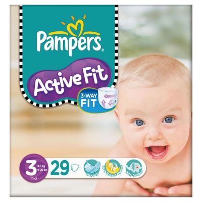 Pampers Couches Active Fit Taille 3 - 29 Couches