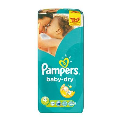 Pampers Couches Baby Dry Taille 4 - 52 Couches