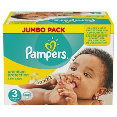 Pampers Couches New Baby Taille 3 - 68 Couches