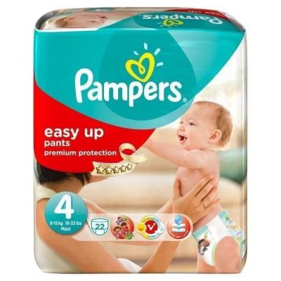 Pampers Couches Easy Up Pants Taille 4 - 22 Couches
