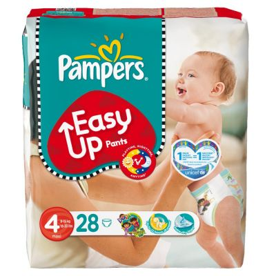Pampers Couches Easy Up Pants Taille 4 - 28 Couches