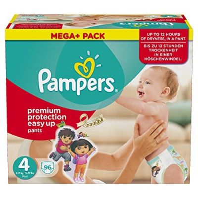 Pampers Couches Easy Up Taille 4 - 96 Couches