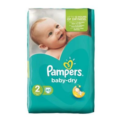 Pampers Couches Baby Dry Taille 2 - 42 Couches
