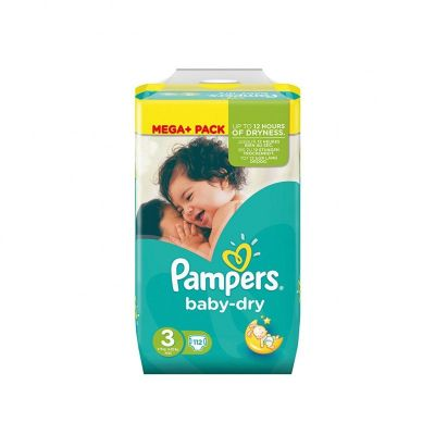 Pampers Couches Baby Dry Taille 3 - 112 Couches