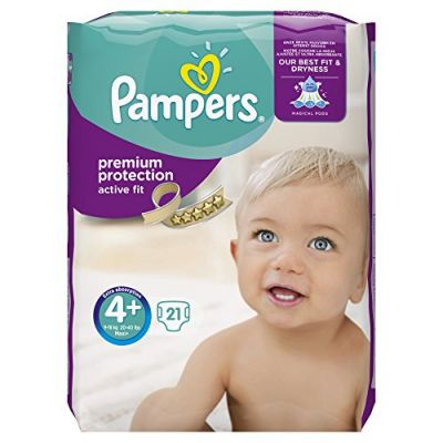 Pampers Couches Active Fit Taille 4+ - 21 Couches