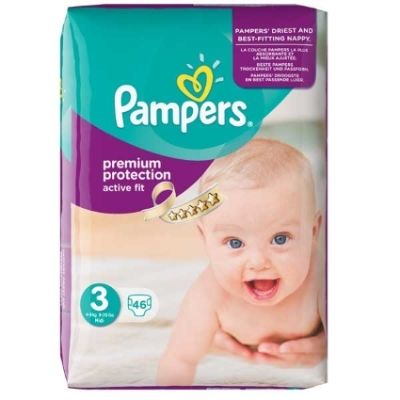 Pampers Couches Active Fit Taille 3 - 46 Couches