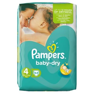 Pampers Couches Baby Dry Taille 4 - 44 Couches